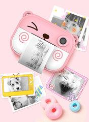 розовый детский фотоаппарат с фото и видео