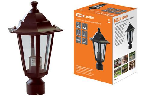 Светильник 6060-13 садово-парковый шестигранник, 60Вт, на опору, бронза