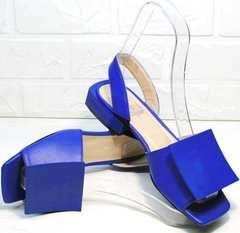 Модные женские босоножки синие Amy Michelle 2634 Ultra Blue