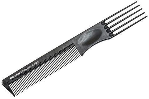 Расчёска Denman Carbon Range 21 см с тройным хвостиком
