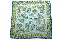 Итальянский платок из шелка с желтым орнаментом 5754