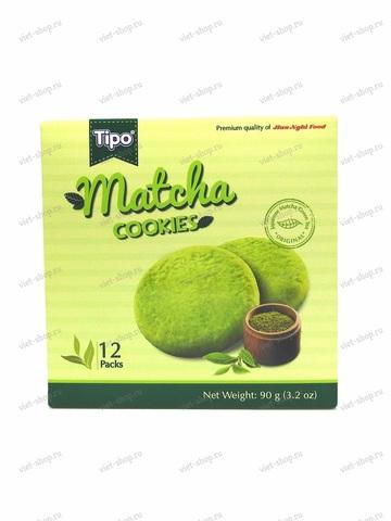 Вьетнамское печенье с чаем Матча Tipo, 90 гр.