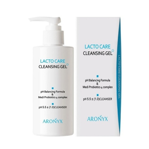 Кислородная пенка-гель для умывания с лактобактериями Medi Flower Aronyx Lacto Care Cleansing Gel 200мл