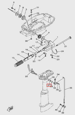 Шайба волнистая для лодочного мотора T5 Sea-PRO (9-27)