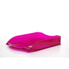 Лоток для бумаг горизонтальный Attache Яркий Офис тонированный розовый