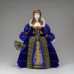 Кукла в костюме французской королевы 16 века