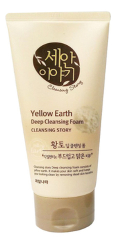 WELCOS Cleansing Story Пенка для умывания Cleansing Story Foam Cleansing (Yellow Clay)150g