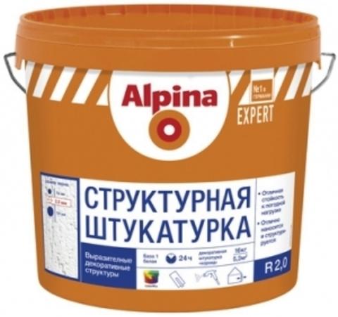 Alpina Expert STRUKTURPUTZ R 20 / Альпина Эксперт Структурпутц Р 20 штукатурка структурная короед