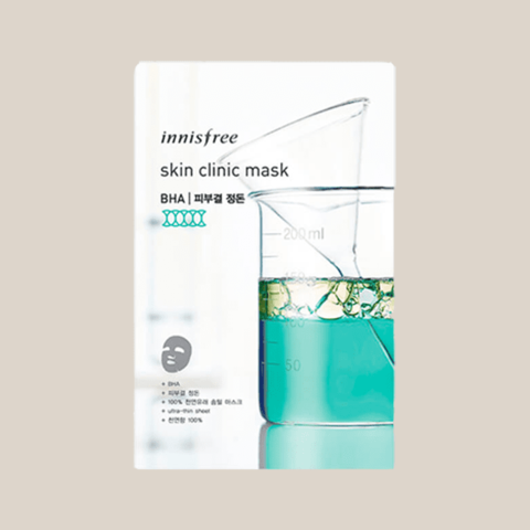 Маска для лица тканевая ультратонкая Innisfree Skin Clinic Mask
