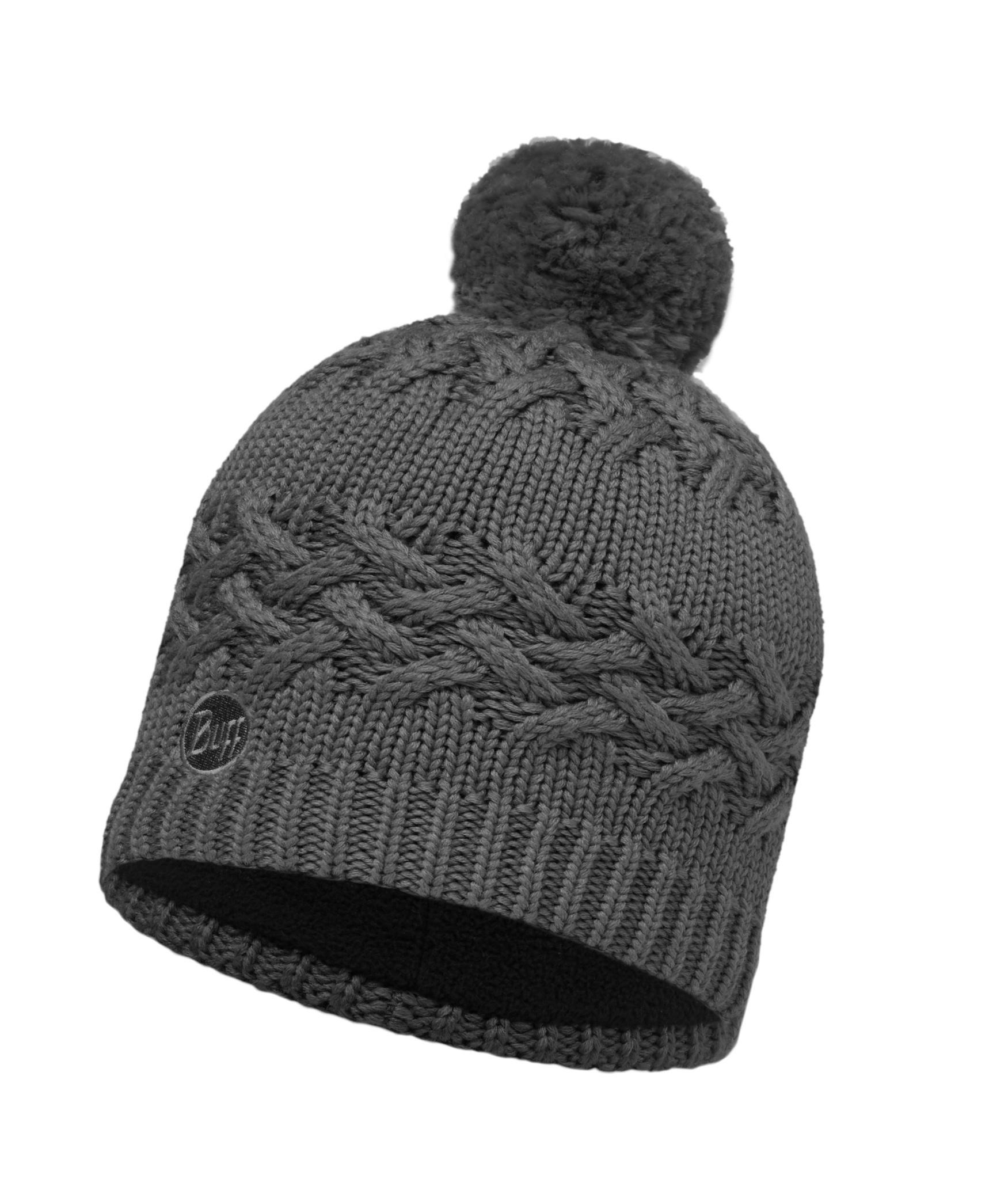 Шапки крупной вязки Вязаная шапка с флисовой подкладкой Buff Savva Grey Castlerock 111005.929.10.00.jpg