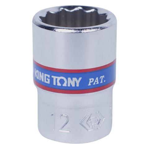 KING TONY (233012M) Головка торцевая стандартная двенадцатигранная 1/4