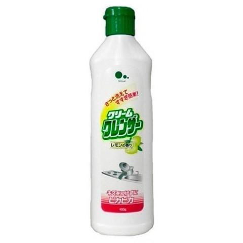 Крем для очищения поверхностей без царапин с ароматом лимона Mitsuei 400 гр