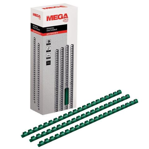 Пружины для переплета пластиковые Promega office 10 мм зеленые (100 штук в упаковке)