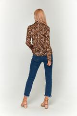 Леопардовая блуза из софта