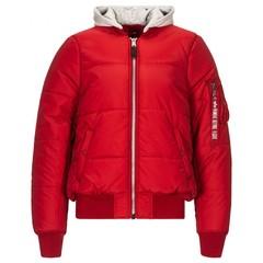 Теплая куртка Alpha Industries МА-1 Natus Quilted Commander Red (Красная)