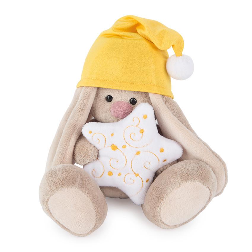 Мягкая игрушка Зайка Ми в колпачке и со звездочкой купить с доставкой по России