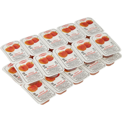 Джем порционный Руконт яблоко 20 г (20 штук в упаковке)