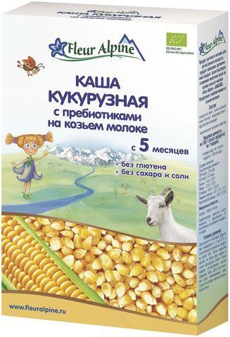Каша Fleur Alpine Organic кукурузная с пребиотиками на козьем молоке