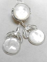 Богиса (кольцо + серьги из серебра)