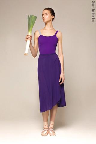 Юбка на запах фиолетовая  | 4 длины