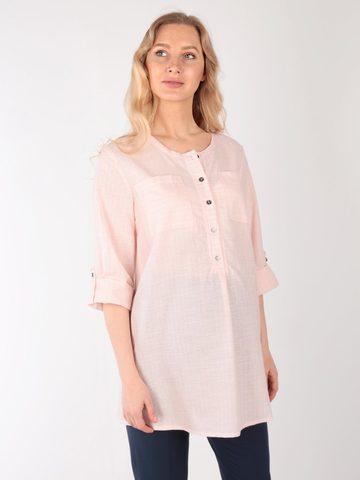 Евромама. Блуза для беременных и кормящих в полоску, пудра