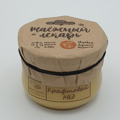 Мёд натуральный крафтовый Таёжный лекарь БЕРЕСТОВ А.С. 260 гр