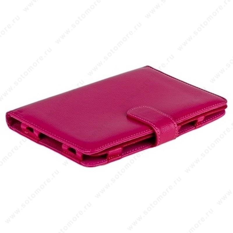 Чехол-книжка для Samsung Galaxy Tab 7.0 Plus P6200/ P6210 пурпурный с заклепкой