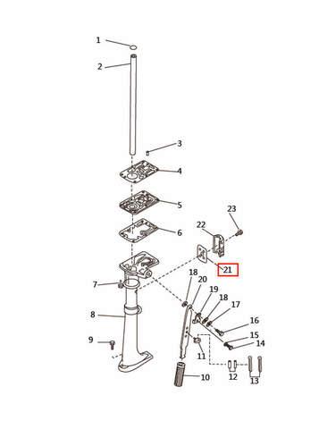 Прокладка для лодочного мотора T2,5 SEA-PRO (7-21)