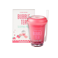 Ночная маска Etude House Bubble Tea Sleeping Pack - Strawberry, 100 мл