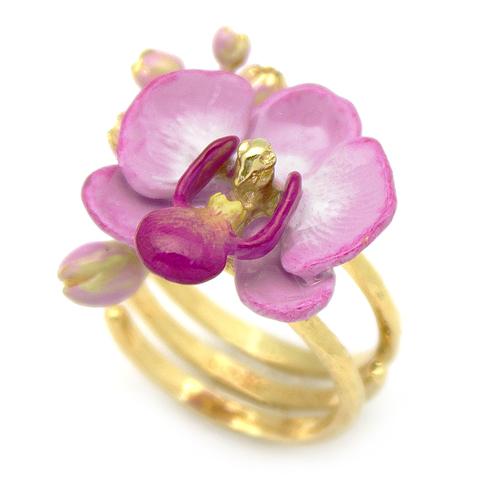 Кольцо Орхидея (сиреневая)