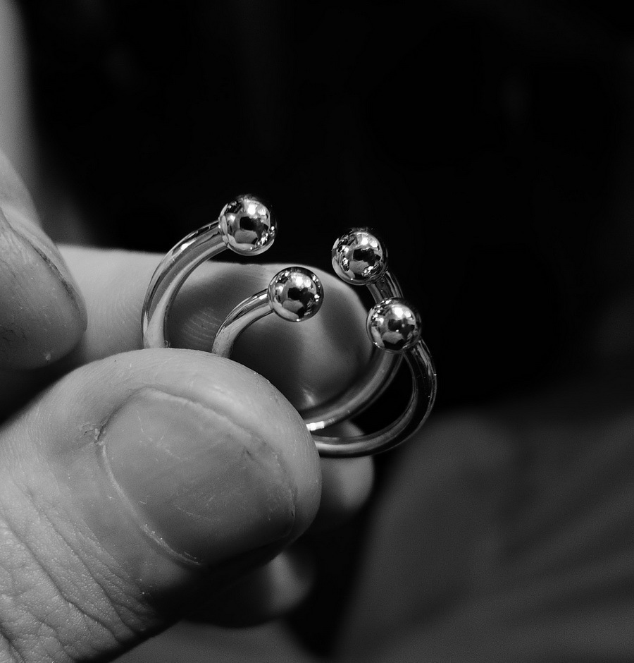Knuckle midi rings, sterling silver
