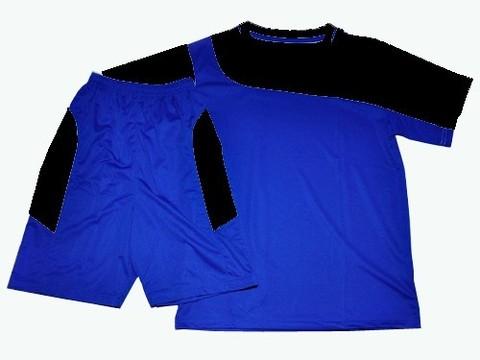 Форма футбольная. Цвет синий с черным. Размер 42. :(Ке001):