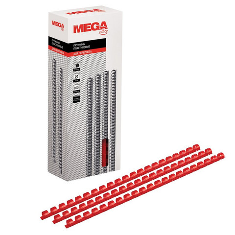 Пружины для переплета пластиковые Promega office 10 мм красные (100 штук в упаковке)