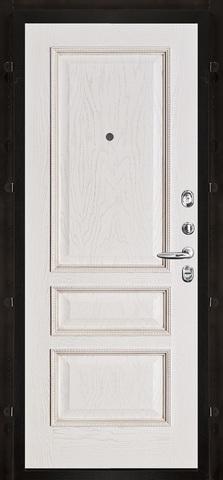 Внутренняя. Белая патина. Рисунок пвх вена m827