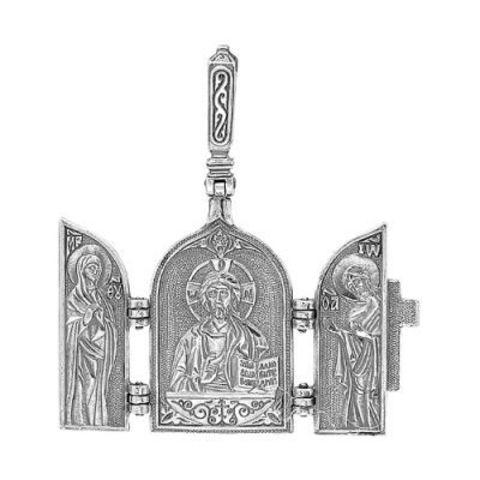 """Подвеска """"Иисус Христос с Предстоящими """" с серебрением"""