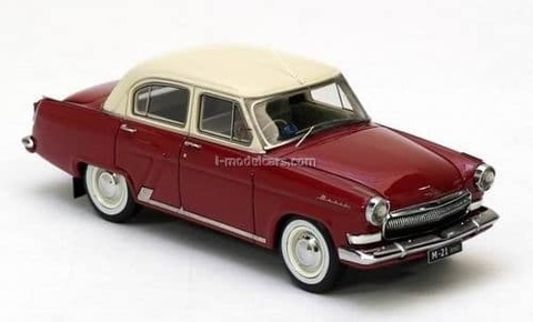 GAZ-21H Volga right hand drive dark red-beige 1965 1:43 VVM / VMM