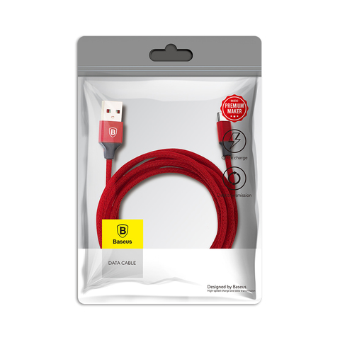 Кабель Baseus Yiven Cable For Type-c 3A 1.2M Red