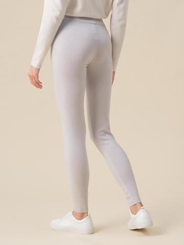Женские брюки светло-серого цвета из 100% кашемира - фото 3