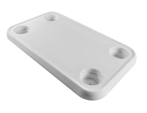 Столешница прямоугольная 390 х 690 мм, пластик
