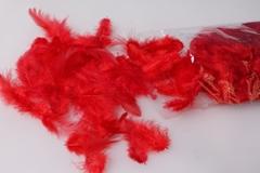 Перья Красные в пакете 10гр