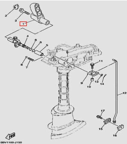 Ручка переключения передач для лодочного мотора F5 Sea-PRO(15-1)