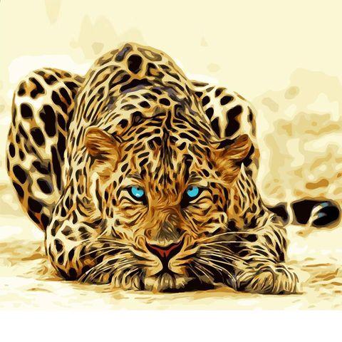Алмазная Мозаика 30x40 Голубоглазая тигрица