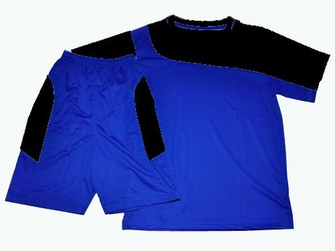 Форма футбольная. Цвет синий с черным. Размер 48. :(Ке001):