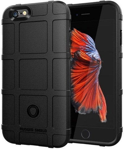 Чехол iPhone 6 Plus (iPhone 6S Plus) цвет Black (черный), серия Armor, Caseport