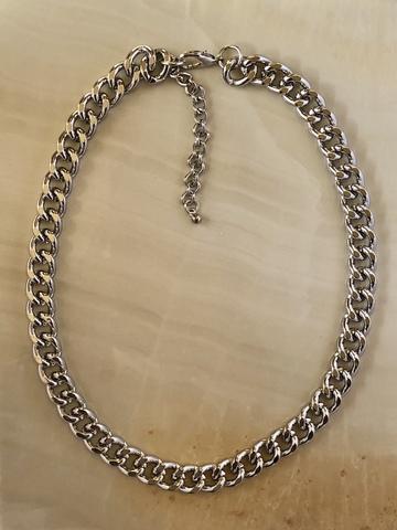 Колье Гера, серебряный цвет