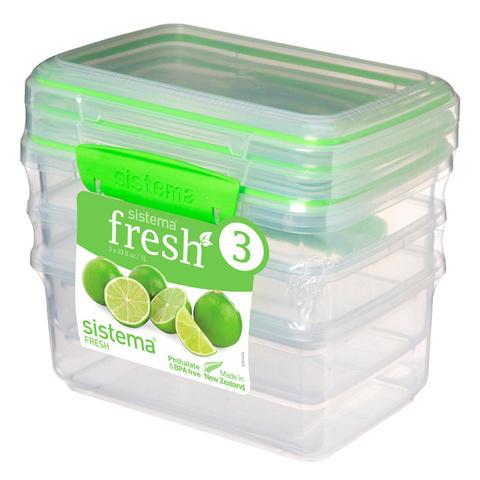 """Набор пищевых контейнеров Sistema """"Fresh"""" 1л, 3шт."""