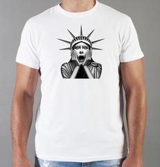 Футболка с принтом США, Статуя Свободы (USA/ Statue of Liberty ) белая 001