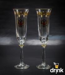 Подарочный набор из 2 хрустальных фужеров для шампанского
