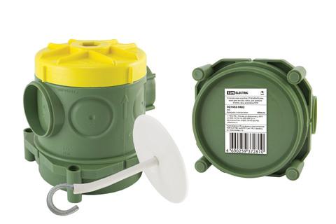 Установочная коробка СП 82х80х90,5мм, крюк для люстры, гайка, для заливки в бетон, инд. штрихкод,TDM