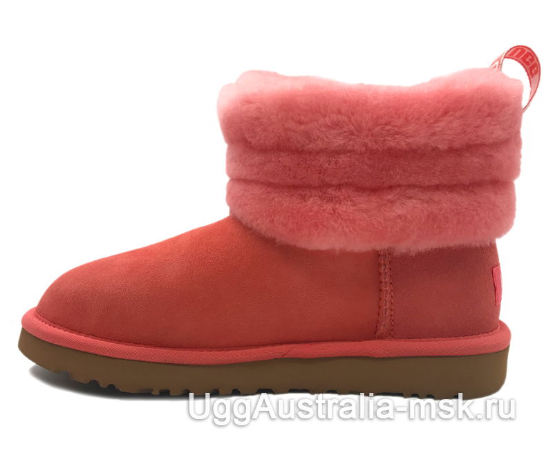 UGG Classic Mini Fluff Quilted Boot Coral